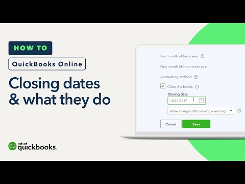 What are Closing Dates?: How to Enter Dates & Password Protecting   QuickBooks Online Tutorial 2018