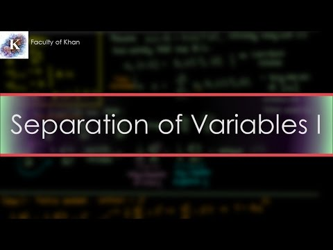 Solving the 1-D Heat/Diffusion PDE by Separation of Variables (Part 1/2)