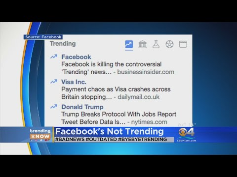 Trending: Facebook to remove 'Trending' news feature
