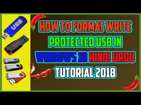 How to format write protected usb in windows 10 Hindi Urdu Tutorial 2018