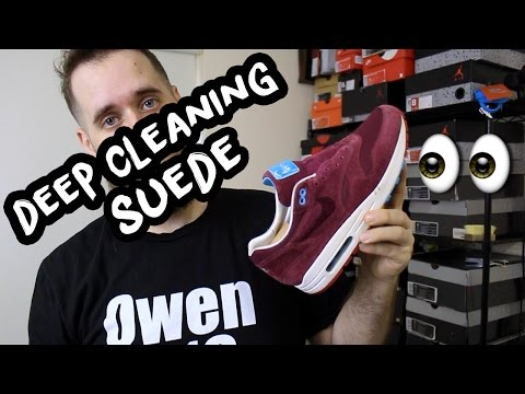 How To Deep Clean Expensive Suede Shoes (Parra Cherrywood Air Max 1)