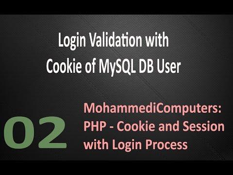 02 - PHP Cookie - Login Validation Process - MySQL User - Hindi