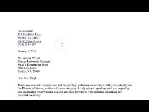 Business Communication   How to create a professional post interview thank you letter