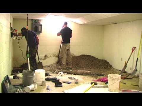 Time Lapse - Basement Sewer Repair