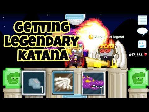 Getting Legendary Katana ( Finally all Legend Items ) | Growtopia