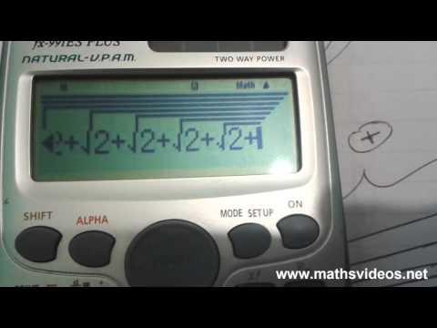 Pi Approximation Trick - Calculator - Derived Using Pythagoras's Theorem
