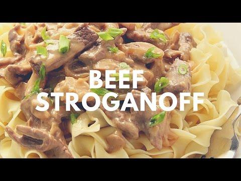 Easy Beef Stroganoff Recipe | Crunchy Creamy Sweet
