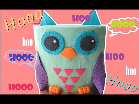 Colorful Owl Cake