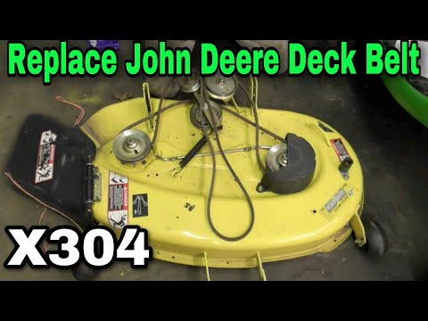 How To Replace A Deck Belt On A John Deere X304 Riding Mower with Taryl
