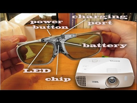 Acer DLP 3D Glasses (E4W) and Benq W2000 projector 3D setup
