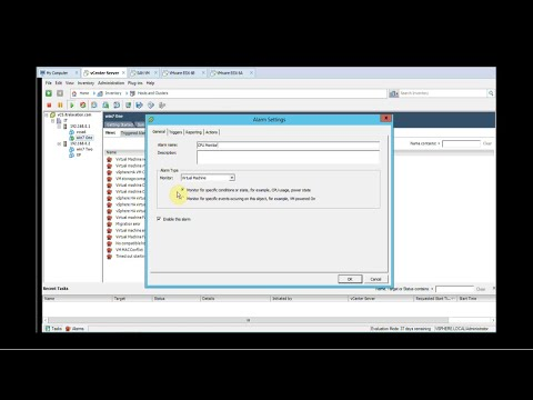 Concepts and Create Alarms in VMware vSphere - Part 14