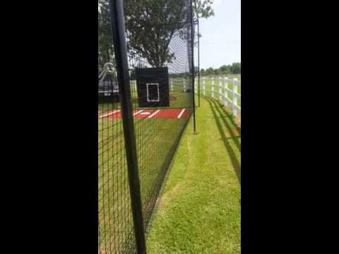12x14x60 ft. Best batting cage frame and net