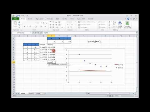 Nonlinear modeling in Excel