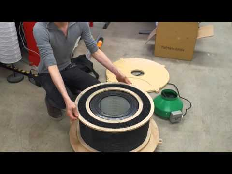 Making an activated carbon 400CFM filter