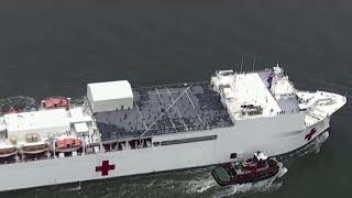U.S. Navy hospital ship docks in NYC amid COVID-19 pandemic
