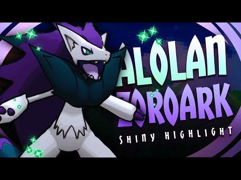 ALOLAN ZOROARK FORM!? NEW SHINY ZOROARK! - Pokémon Sun & Moon Shiny Highlight (Hacked Shiny Hunting)