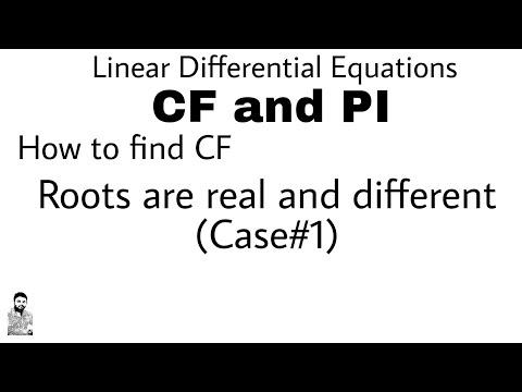 2.  HOW TO FIND CF | CASE#1 | DIFFERENTIAL EQUATIONS OF HIGHER ORDER