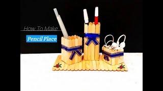 Cara Simpel Membuat Tempat Pensil Dari Stik Es Krim