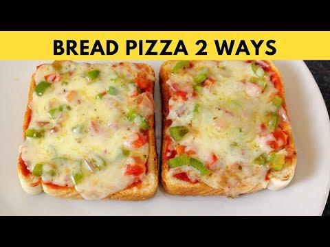 Bread Pizza Recipe On Tawa | 2 Ways Bread Pizza Tawa & Microwave by (HUMA IN THE KITCHEN)