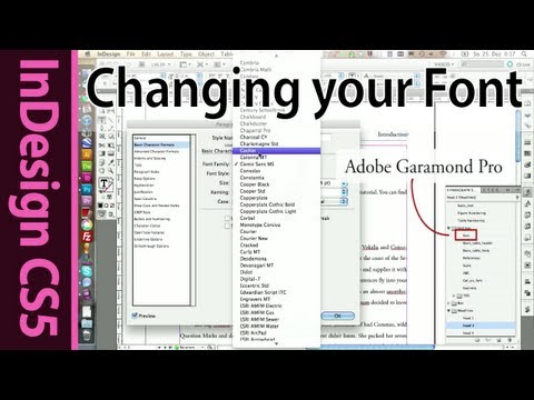 InDesign - Changing the font in Paragraph Styles (Part 15)