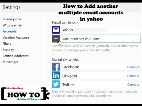 How to add another Multiple email accounts Using in Yahoo