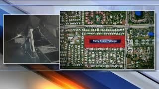 Storm Damage At Parry Trailer Village