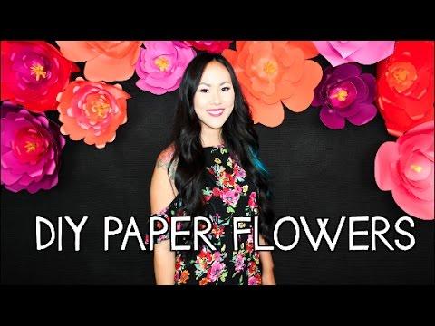 DIY HUGE PAPER FLOWERS