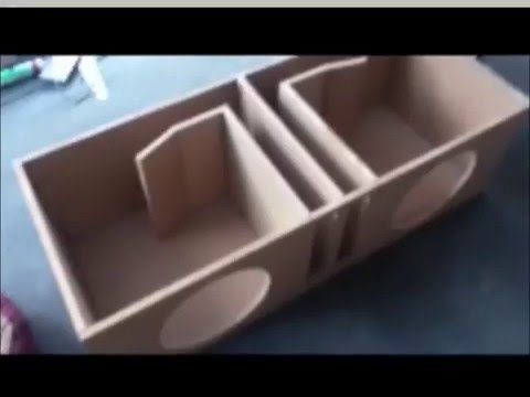 Dual 12 Inch Ported Subwoofer Box W/ CommodoreSubwoofers - How To