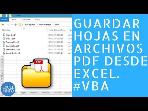 Guardar hojas en archivos PDF en Excel usando VBA y macros @EXCELeINFO
