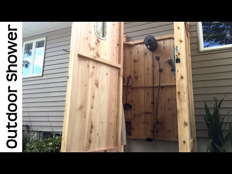 Awesome Outdoor Shower Tour - Cape Cod Outside Enclosure Kit