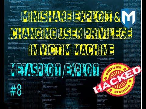 Metasploit  #8: Changing user privilege in victim machine