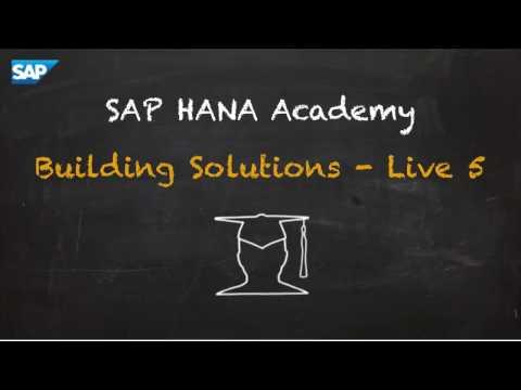 SAP HANA Academy - Live5: Initial Setup - File Transfer