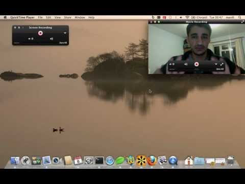 Screen and webcam recording on Mac OS X