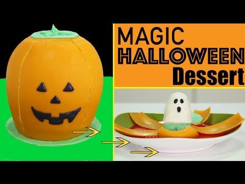 Magic Halloween Dessert - Dissolving Jack O' Lantern w/ GHOST Surprise Inside w/ Nestlé Toll House