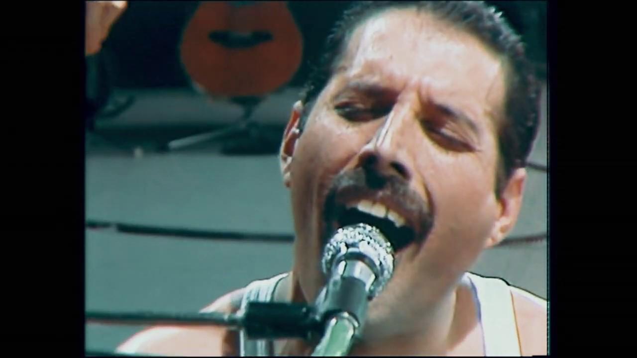 QUEEN - Bohemian Rhapsody and Radio Gaga (Live AID 1985) [ Blu-Ray 1080p HD Color Grading]