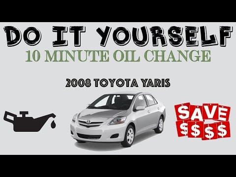 10 minute DIY Car Oil Change Saves You Money: 2008 Toyota Yaris