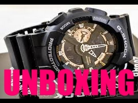 Unboxing of GSHOCK GA110RB (online purchase)