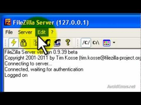 How To Install,Set Up & Access FileZilla FTP Server.