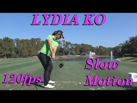 LYDIA KO DTL PAR 3 HYBRID WOOD GOLF SWING 120fps SLOW MOTION 1080 HD