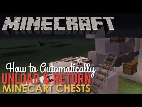 How to make an Automatic Mine Cart Chest Drop-off & Return in Minecraft