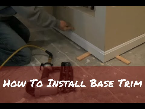 How to Install Base Trim