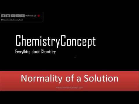 Normality of Solution - How to calculate? | IIT JEE, NEET, CBSE