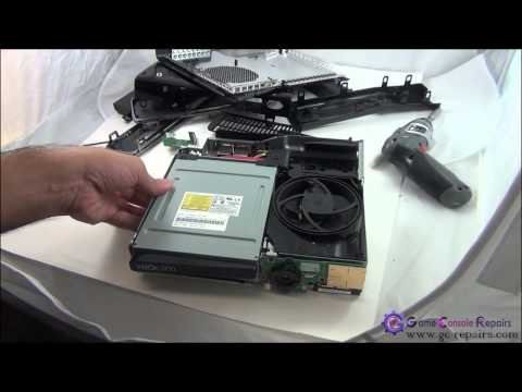 Removing Game Disc from a broken XBOX360 SLIM DVD Drive gc repairs