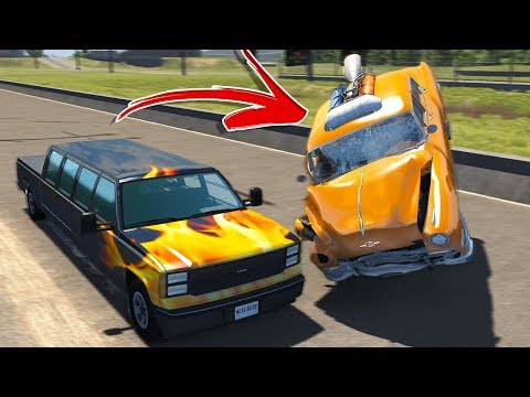 ROCKET CAR DRAG RACING! INSANE CRASHES! - BeamNG Drive Drag Racing