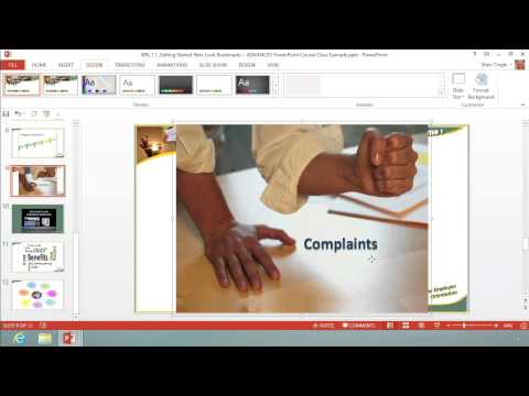 Microsoft Office PowerPoint 2013: Working with Hardware: Wide Screen Friendly and Touch Mode