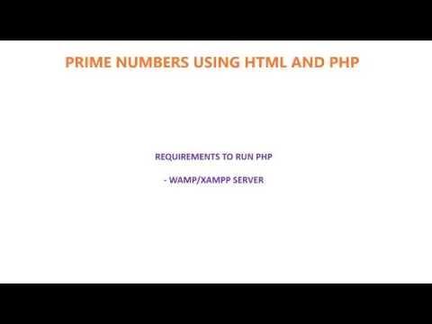 PRIME NUMBER RANGE USING HTML & PHP