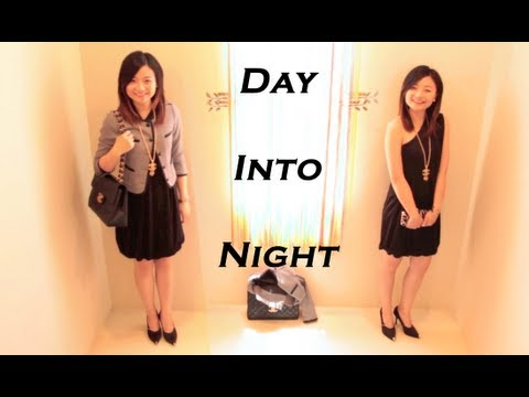 Day into Night Fast Outfit Transition-work, dinner, date, and party lookbook