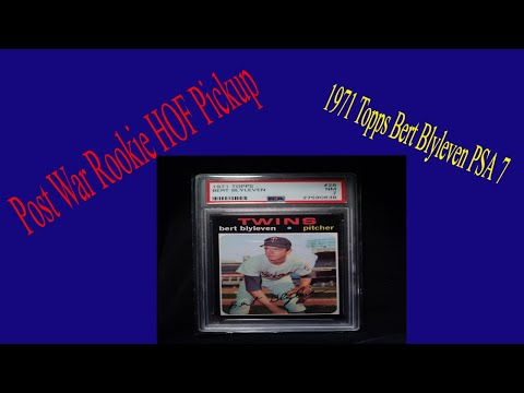 Post War Rookie HOF PSA Set Registry Pickup. 71 Topps Blyleven