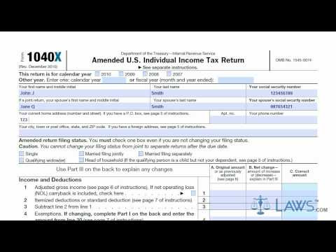 Learn How to Fill the Form 1040X Amended U.S. Individual Income Tax Return