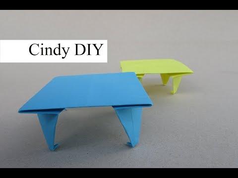 Easy Paper Table / Origami tutorial for Beginner | Kids Craft | Cindy DIY